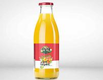 Création étiquette jus fruits Guadeloupe