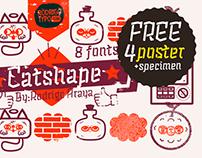 Catshape Dingbats Family +Free Poster