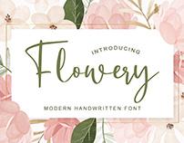 Flowery Calligraphy - Handwritten Font