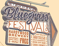 Poster Design: Hardywood Bluegrass Festival