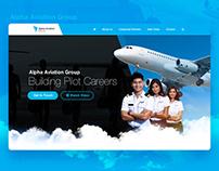 Alpha Aviation Group Website Design