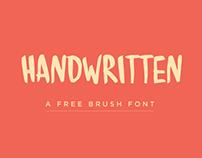 Handwritten - A free brush font
