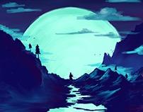 Super Moon - iPad Illustration, Procreate