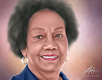 Dr Frances Cress Welsing Digital Art by Wayne Flint