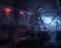 【异形Alien】锦依卫学员概念级合成海报