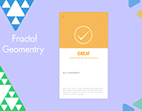 """Loading screen concept with """" FRACTAL GEOMETRY """""""