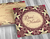 Exotic Eastern | 5x5 Invitation Flatcards (LLP)