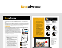 BeerAdvocate Sponsorship Opportunities Collateral