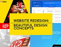 Website Redesign: 27 Beautiful Design Concepts