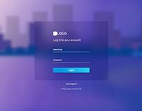 Login Page UI (Handmade BG)
