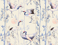 """Chinoiserie"" - Textile Design"
