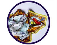ERMES _ multi function silk scarf