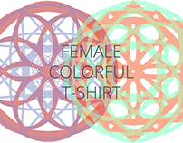 Female Colored Art T-shirt