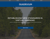 Quadrivium Online Learning Website Concept