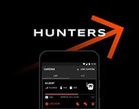 Hunters. Mobile & Web