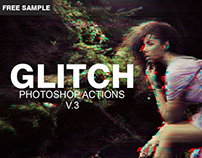 Glitch - Free Photoshop PSD Template V.3