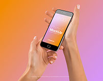 Female Hands with iPhone 6 Mockup