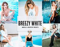 Free Breezy White Mobile & Desktop Lightroom Presets