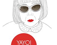 YAYOI KUSAMA portraite illustration