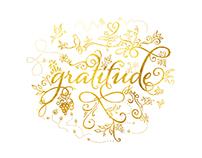 Gratitude - Gold Text
