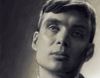 Tommy Shelby Digital Painting