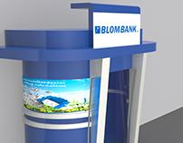 Blom Bank ATM kiosk Jordan