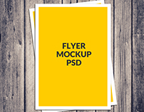Free A4 Poster Flyer Mockup Psd Download