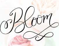 Bloom Editorial Hand Lettered Art