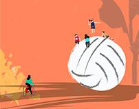 Little people in a big week - Illustrations