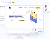 Web Design: Landing pages for micro-learning startup