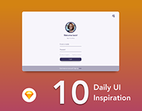 Daily UI inspiration. A work to inspire.