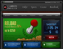 Homepage Concept Design for Gaming & Betting Portal