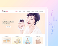 iLady E-commercial Interface Design