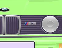 BMW E30 M3 Illustration