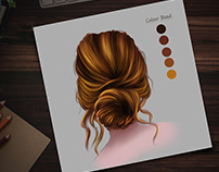 Digital Painting of hair