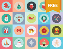 A Pack of 20 Free Christmas Icons