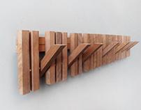 MARIMBA wooden wall hanger
