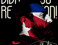 Fidel Castro 90th birthday poster