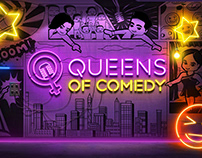 Queens of Comedy - Show packaging