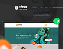 Shop musicmarketing website redesign