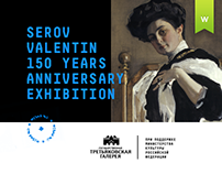 Serov Valentin 150 years anniversary exhibition