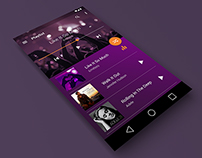 Design concept for Music Player (Android Lollipop)