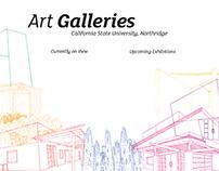CSUN Art Galleries Banner