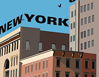 Soho New york Landscape Illustration