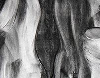 Anatomical Sculptures Charcoal Sketches