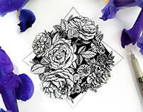 Floral/Geometric Illustrations