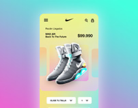 Concepto ficha mobile NIKE AIR Back To The Future