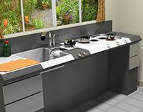 Oxford Grey Kitchen Unit