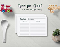 Free Minimal Recipe Card Template V2