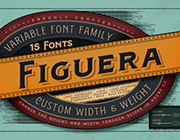 Figuera Variable - Vintage Variable Fonts